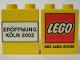 Part No: 4066pb168  Name: Duplo, Brick 1 x 2 x 2 with The Lego Store Köln 2002 Pattern
