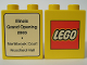 Part No: 4066pb169  Name: Duplo, Brick 1 x 2 x 2 with The Lego Store Illinois Stores (Woodfield Mall & Northbrook Court) 2003 Pattern