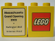 Part No: 4066pb170  Name: Duplo, Brick 1 x 2 x 2 with The Lego Store Massachusetts Stores (Solomon Pond and Burlington Mall) 2003 Pattern