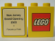 Part No: 4066pb171  Name: Duplo, Brick 1 x 2 x 2 with The Lego Store New Jersey, Paramus Park 2003 Pattern