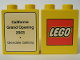 Part No: 4066pb173  Name: Duplo, Brick 1 x 2 x 2 with The Lego Store California, Glendale Galleria 2003 Pattern