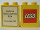 Part No: 4066pb184  Name: Duplo, Brick 1 x 2 x 2 with The Lego Store California, Stoneridge Mall 2004 Pattern
