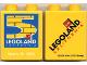 Part No: 4066pb223  Name: Duplo, Brick 1 x 2 x 2 with Legoland California 5th Birthday Pattern