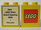 Part No: 4066pb236  Name: Duplo, Brick 1 x 2 x 2 with The Lego Store Bluewater 2004 Opening Pattern