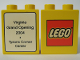 Part No: 4066pb249  Name: Duplo, Brick 1 x 2 x 2 with The Lego Store Virginia, Tysons Corner Center 2004 Pattern