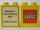 Part No: 4066pb250  Name: Duplo, Brick 1 x 2 x 2 with The Lego Store Washington, Bellevue Square 2004 Opening Pattern