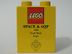 Part No: 4066pb261  Name: Duplo, Brick 1 x 2 x 2 with Space & AQP 1996 Team Work Expo Pattern