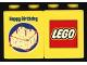 Part No: 4066pb262  Name: Duplo, Brick 1 x 2 x 2 with Happy Birthday and Birthday Cake Pattern