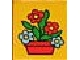 Part No: 4066pb291  Name: Duplo, Brick 1 x 2 x 2 with Red Flowers in Red Pot Pattern