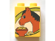 Part No: 4066pb292  Name: Duplo, Brick 1 x 2 x 2 with Horse Pattern