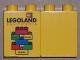 Part No: 4066pb299  Name: Duplo, Brick 1 x 2 x 2 with Junior Master Model Builder 2007 Pattern