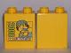 Part No: 4066pb316  Name: Duplo, Brick 1 x 2 x 2 with www.LEGOclub.com 2008 Pattern