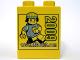 Part No: 4066pb345  Name: Duplo, Brick 1 x 2 x 2 with www.LEGOclub.com 2009 Pattern