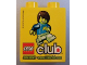 Part No: 4066pb376  Name: Duplo, Brick 1 x 2 x 2 with Lego Club Join Now! Pattern (US issue)