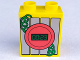 Part No: 4066pb397  Name: Duplo, Brick 1 x 2 x 2 with Digital Display with '00:23' and Green Coiled Wire Pattern