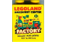 Part No: 4066pb416  Name: Duplo, Brick 1 x 2 x 2 with Legoland Discovery Center Factory Dallas / Fort Worth Pattern