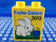 Part No: 4066pb435  Name: Duplo, Brick 1 x 2 x 2 with Legoland Discovery Centre Frohe Ostern 2013 Pattern