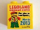 Part No: 4066pb441  Name: Duplo, Brick 1 x 2 x 2 with Legoland Discovery Center Westchester Grand Opening 2013 Pattern