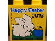 Part No: 4066pb511  Name: Duplo, Brick 1 x 2 x 2 with Legoland Discovery Centre Happy Easter 2013 Pattern