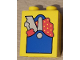 Part No: 4066pb516  Name: Duplo, Brick 1 x 2 x 2 with Blue Tool Box with Screwdriver and Saw Pattern