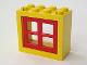 Part No: 4132c01  Name: Window 2 x 4 x 3 Frame with Red Window 2 x 4 x 3 Pane (4132 / 4133)