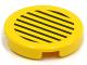 Part No: 4150pb027  Name: Tile, Round 2 x 2 with Black Stripes on Yellow Background Pattern (Sticker) - Set 6557