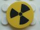 Part No: 4150pb037  Name: Tile, Round 2 x 2 with Radioactivity Warning Pattern (Sticker) - Set 5980