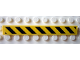 Part No: 4162pb028  Name: Tile 1 x 8 with Black and Yellow Danger Stripes Pattern (Sticker)