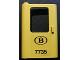 Part No: 4181pb029  Name: Door 1 x 4 x 5 Train Left with 'B 7735' Pattern (Sticker) - Set 7735