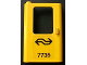 Part No: 4181pb030  Name: Door 1 x 4 x 5 Train Left with Dutch NS '7735' Pattern (Sticker) - Set 7735
