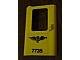 Part No: 4181pb034  Name: Door 1 x 4 x 5 Train Left with Norwegian 'NSB 7735' Pattern (Sticker) - Set 7735