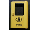 Part No: 4182pb029  Name: Door 1 x 4 x 5 Train Right with 'B 7735' Pattern (Sticker) - Set 7735