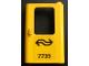 Part No: 4182pb030  Name: Door 1 x 4 x 5 Train Right with Dutch NS '7735' Pattern (Sticker) - Set 7735