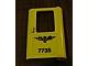 Part No: 4182pb034  Name: Door 1 x 4 x 5 Train Right with Norwegian 'NSB 7735' Pattern (Sticker) - Set 7735