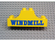 Part No: 4197pb011  Name: Duplo, Brick 2 x 6 x 2 Curved Ends with 'WINDMILL' Pattern