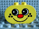 Part No: 4198pb01  Name: Duplo, Brick 2 x 4 x 2 Rounded Ends with Freckle Face Pattern
