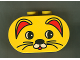 Part No: 4198pb09  Name: Duplo, Brick 2 x 4 x 2 Rounded Ends with Cat Face Type 1 (colored) Pattern