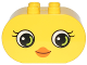 Part No: 4198pb25  Name: Duplo, Brick 2 x 4 x 2 Rounded Ends with Small Beak and Eyes with Eyelashes Pattern (10817)