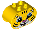 Part No: 4198pb31  Name: Duplo, Brick 2 x 4 x 2 Rounded Ends with Tiger Face Pattern