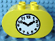 Part No: 4198px4  Name: Duplo, Brick 2 x 4 x 2 Rounded Ends with Clock Pattern
