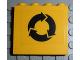 Part No: 4215pb041  Name: Panel 1 x 4 x 3 with Recycling Arrows Black Pattern (Sticker) - Set 4555