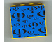 Part No: 4215pb055  Name: Panel 1 x 4 x 3 with Gravity Games Logo Repeating Black on Blue Pattern (Sticker) - Set 3538