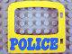 Part No: 4247pb02  Name: Duplo Door / Window Pane with 'POLICE' Pattern