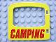 Part No: 4247pb03  Name: Duplo Door / Window with 'CAMPING' Pattern