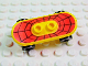 Part No: 42511c01pb02  Name: Minifigure, Utensil Skateboard with Trolley Wheel Holders with Web Pattern (Sticker) and Black Trolley Wheels (42511pb02 / 2496)