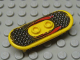 Part No: 42511pb04  Name: Minifigure, Utensil Skateboard with Trolley Wheel Holders with Lightning Pattern (Sticker) - Set 6734