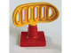 Part No: 4376c03  Name: Duplo Radar Array on 2 x 2 Red Base (Set 2687)