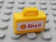 Part No: 4449pb02  Name: Minifigure, Utensil Briefcase with Shell Logo and Text Pattern (Sticker)  - Set 8654