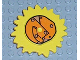 Part No: 44522px1  Name: Duplo Sun Metal Design with Light Brown Center Pattern (Little Robots)