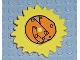 Part No: 44522px1  Name: Duplo Sun Metal Design with Light Brown Center Pattern (Little Robots)